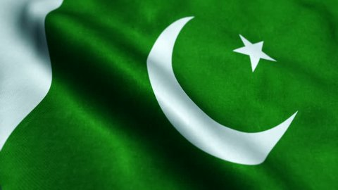 Flag of Pakistan Beautiful 3d animation of Pakistan flag in loop mode