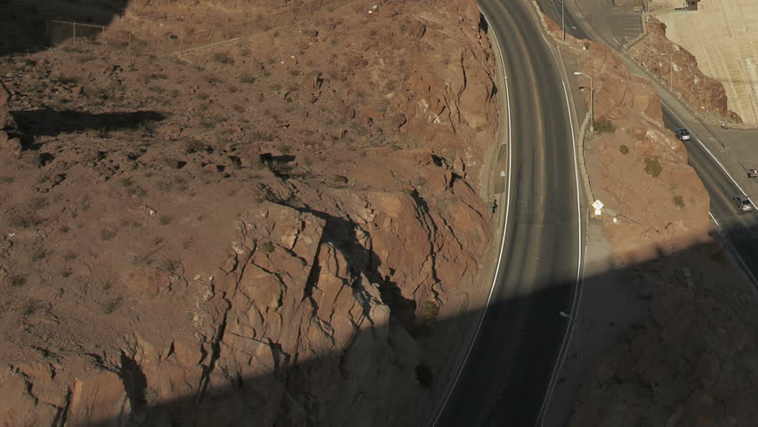 Timelapse Hoover Dam near Las Vegas at daytime with traffic going over the dam | Shutterstock HD Video #2792893