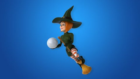 Sexy witch - 3D Animation