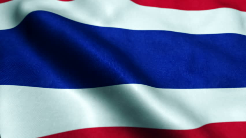 Flag of Thailand Beautiful 3d animation of Thailand flag in loop mode