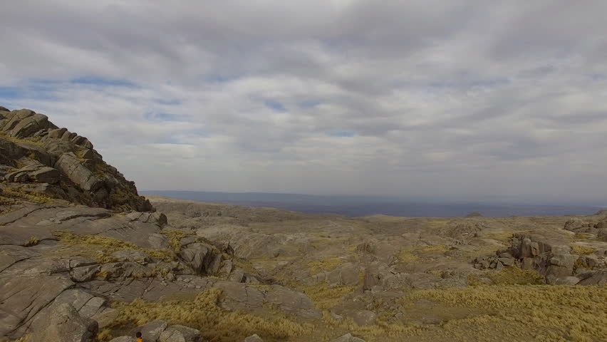 Scenic aerial landscape, Mount Champaqui, Cordoba Province, Argentina | Shutterstock HD Video #27946933