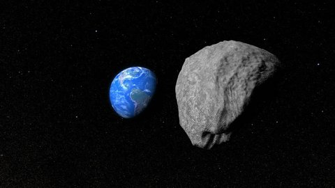 Giant Asteroid or meteoroid moving towards Planet Earth