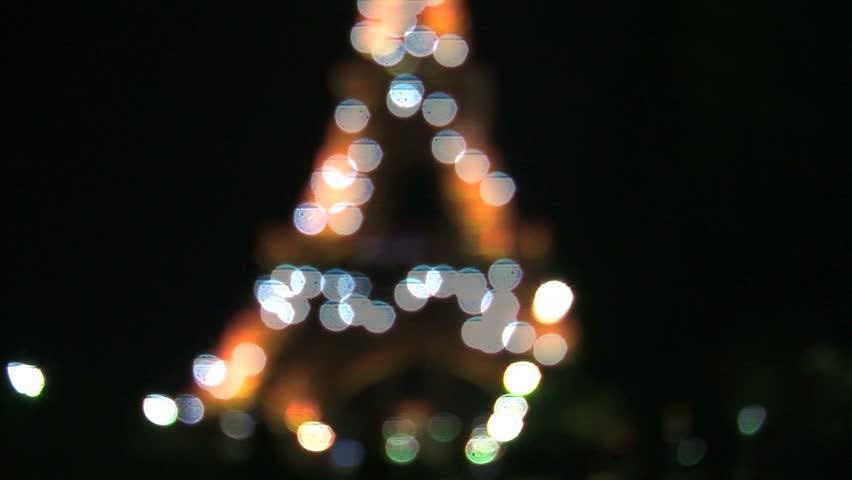 PARIS, FRANCE - CIRCA 2012: Blur to focus Eiffel tower