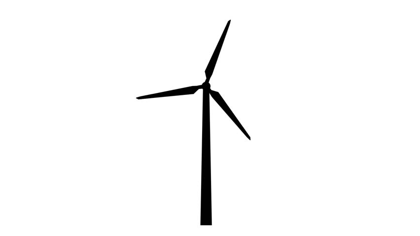 Line Drawing Windmill : Wind turbine white background stock footage video
