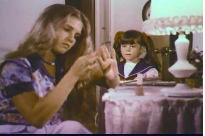 1970s: A family ignores a little girl, showing the importance of listening, in a Public Service Announcement for the Church of Jesus Christ of Latter-day Saints, in 1974.