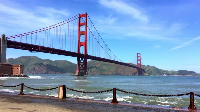 The Golden Gate Bridge, San Francisco, 4K footage