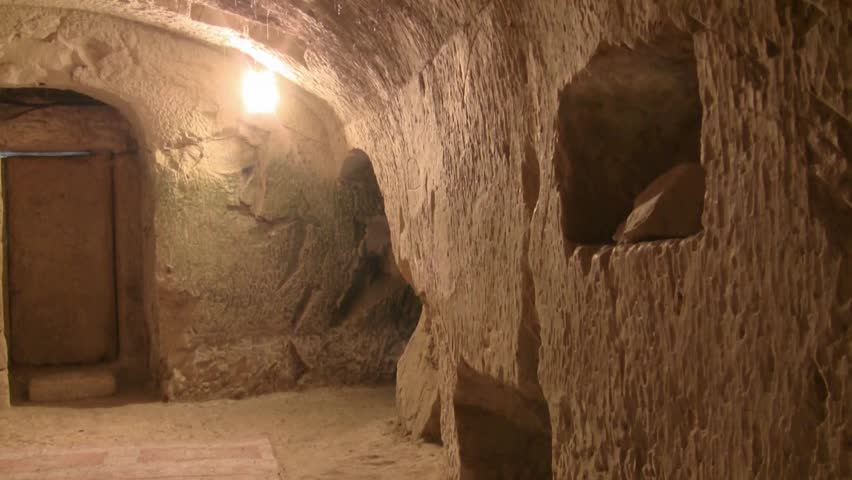 Inside the cave of Rabbi Yehuda Hanassi, Bet Shearim, Israel