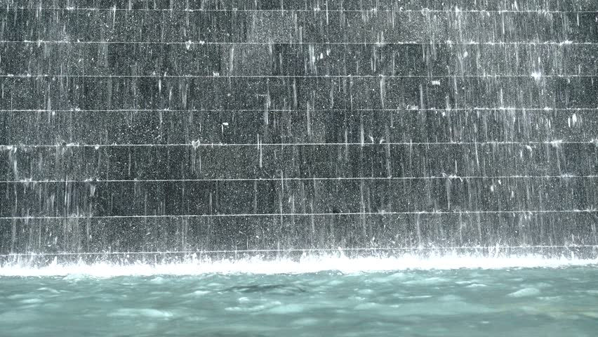 4K Artificial Waterfall Interior Design