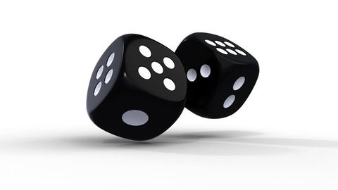Dice. Animated dice. 3D rendereing