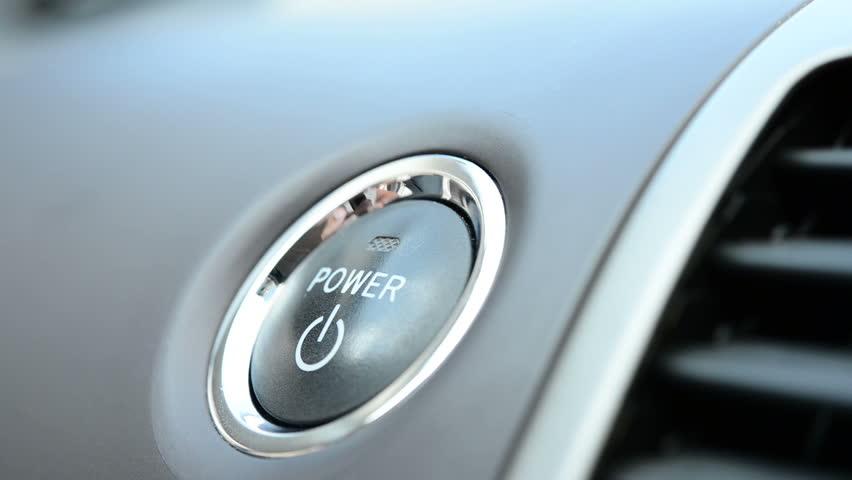 Pushing a power button in modern hybrid car | Shutterstock HD Video #2815366
