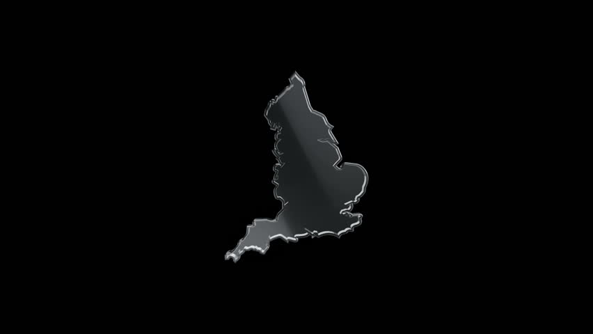 3D Animation rotation of symbol of England map from glass. Animation of seamless loop.   Shutterstock HD Video #28161913