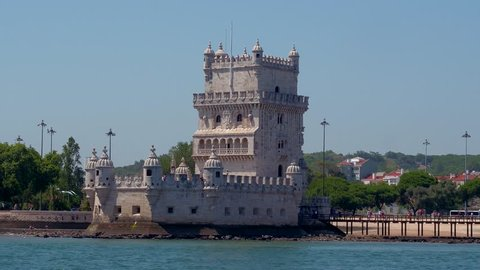 The tower of Belem Lisbon - view from Tagus River