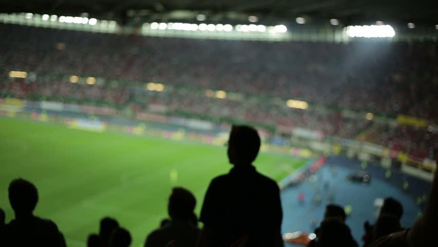 Soccer fans in stadium | Shutterstock Video #2822725