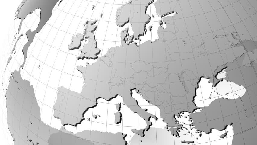 Background footage of the world map stock footage video 5237015 earth globe with transparent oceans and very detailed texture map zoom to europe actual gumiabroncs Image collections