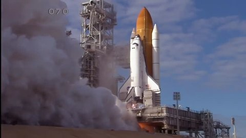 2010s: The Space Shuttle lifts off from Cape Canaveral, Florida.