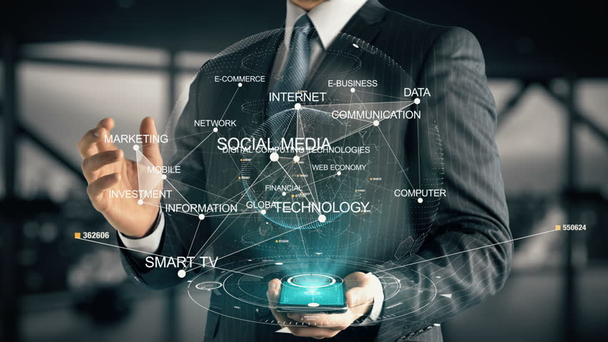 Businessman with Web Economy hologram concept | Shutterstock HD Video #28335973
