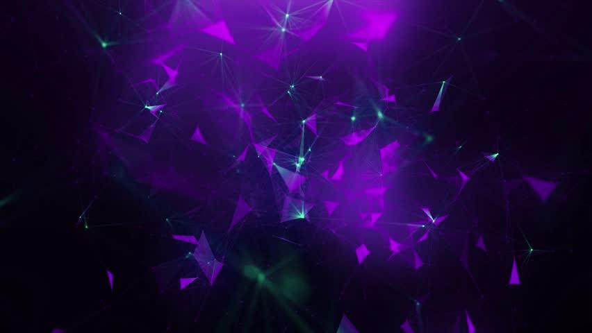 Green-violet abstract background of plexus | Shutterstock HD Video #28348951