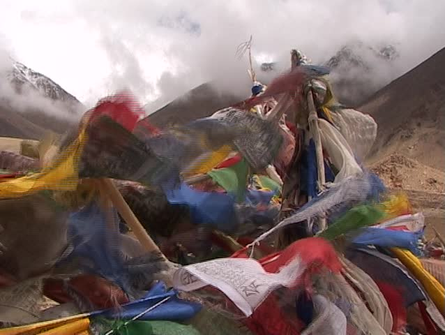Buddhist prayer flags in the Himalayas