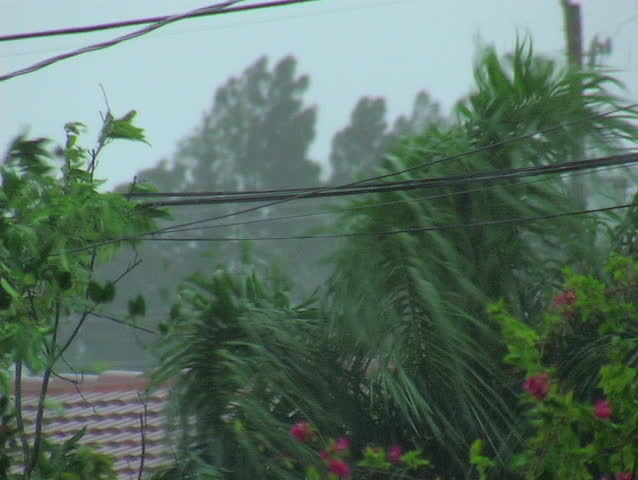Hurricane Katrina arrives as a category one in Miami Florida