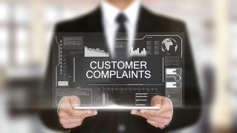 Customer Complaints, Hologram Futuristic Interface, Augmented Virtual Reality