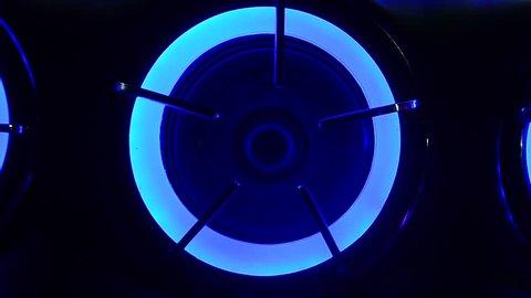 light and loudspeaker in car Audio