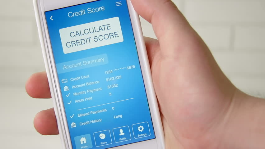 Checking credit score on smartphone using application. The result is VERY POOR | Shutterstock HD Video #28508323