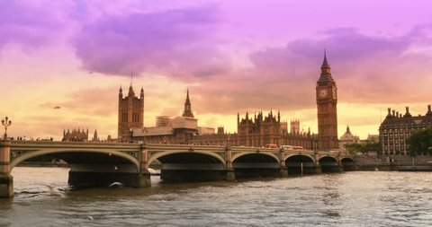 Westminster Bridge looking at Big ben and Parliament London United Kingdom