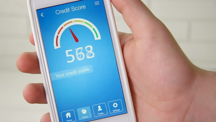 Checking credit score on smartphone using application. The result is GOOD | Shutterstock HD Video #28549723