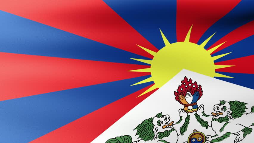 Tibet Flag Waving Stock Footage Video 100 Royalty Free 2855053