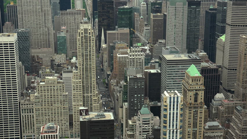 New York, USA - May 2017: View Manhattan skyline skyscrapers from Empire State Building, Manhattan, real time, UltraHd 4k | Shutterstock HD Video #28556143