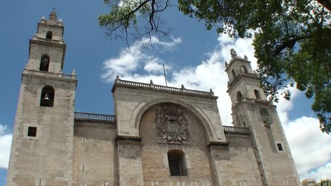 Church in the city of Merida in Mexico