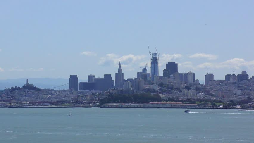 San Francisco skyline in California, USA, circa April 2017   Shutterstock HD Video #28572793