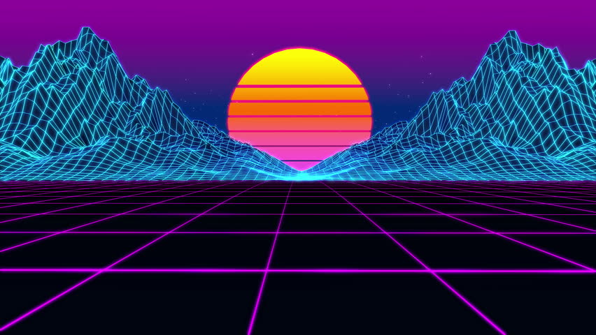Animation Grid, 80s Retro Sci-fi Stock Footage Video (100% Royalty-free)  28633813 | Shutterstock