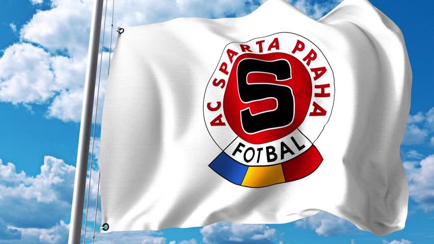 Close up of waving flag with chelsea fc football club logo waving flag with sparta prague football club logo 4k editorial clip 4k stock video voltagebd Images