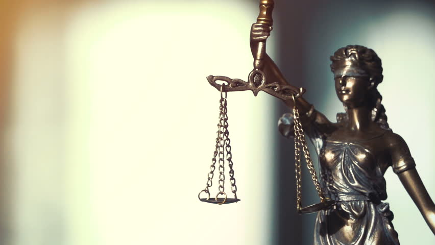 The Statue of Justice - lady justice or Iustitia the Roman goddess of Justice | Shutterstock HD Video #28736383