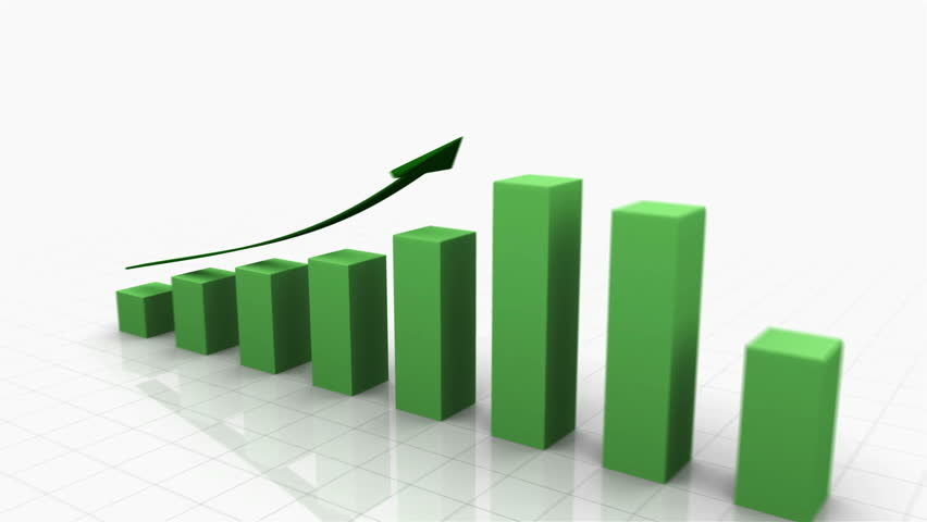 3D Growing Business Chart in Green with Climbing Arrow. Different variations of this file as well as many other business related animations available in my Contributor Gallery. | Shutterstock HD Video #2874304