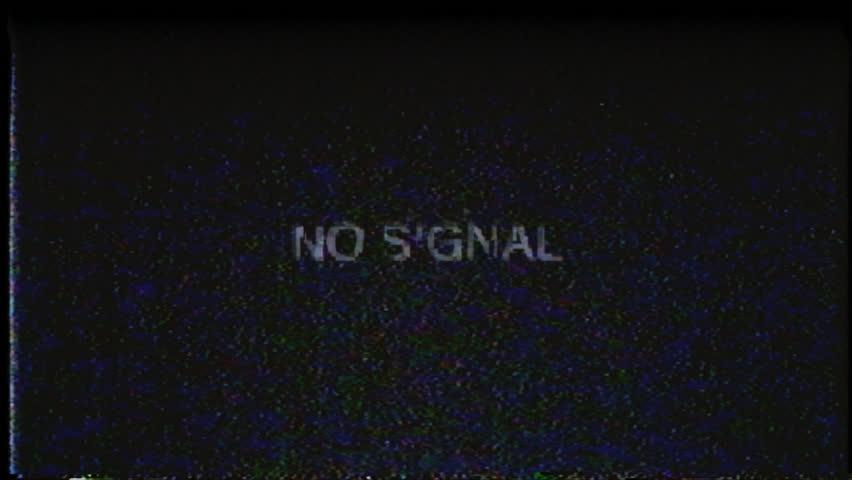 No Signal Retro Vhs Screen Stock Footage Video (100% ...