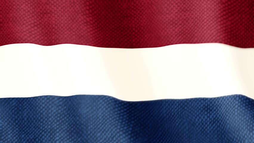 Dutch flag waving animation