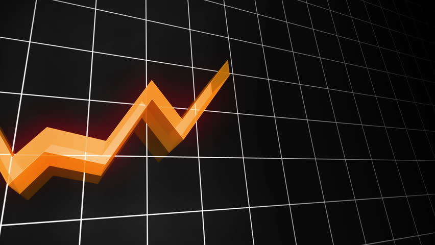 3D Loopable line chart in Orange. Also available in green, red, blue, yellow and purple. | Shutterstock HD Video #2883676