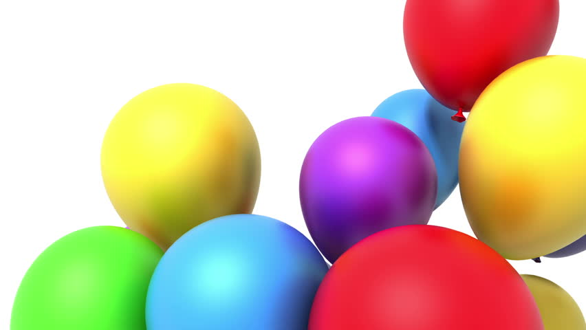 Balloons 3d Animation Alpha Included Stock Footage Video 100