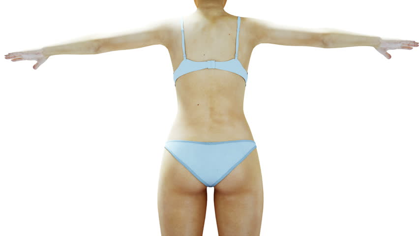 Fat 3d women. Slimming and obesity process. Diet and health concept. Isolate. Realistic 3d rendering.