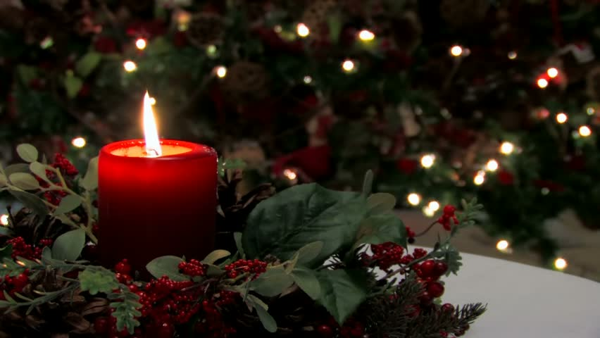 Red Holiday Candle And Holly Stock Footage Video 100 Royalty Free