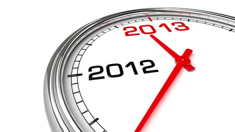 New Year 2013 Clock (with Matte). Clock countdown from year 2012 to 2013. Perfect for your own background, clean mask.