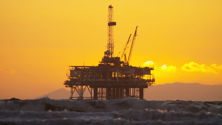 Silhouette of Oil Rig Coastal Stock Footage Video (100% Royalty-free)  29010643   Shutterstock