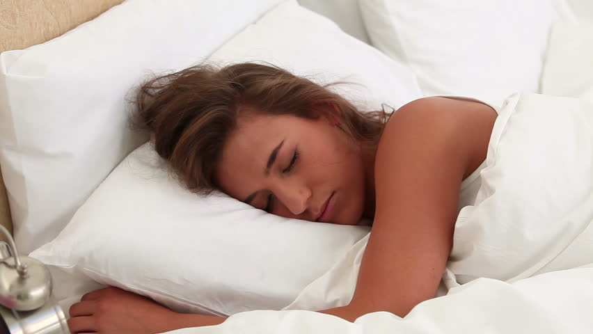 Peaceful Woman Sleeping In Her Stock Footage Video 100