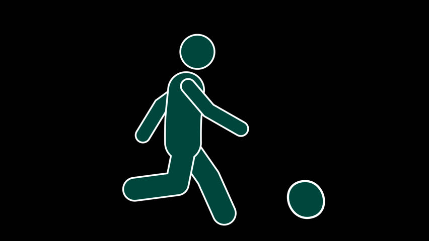 Stick Figure Character Playing Basketball. Footage With Alpha Channel