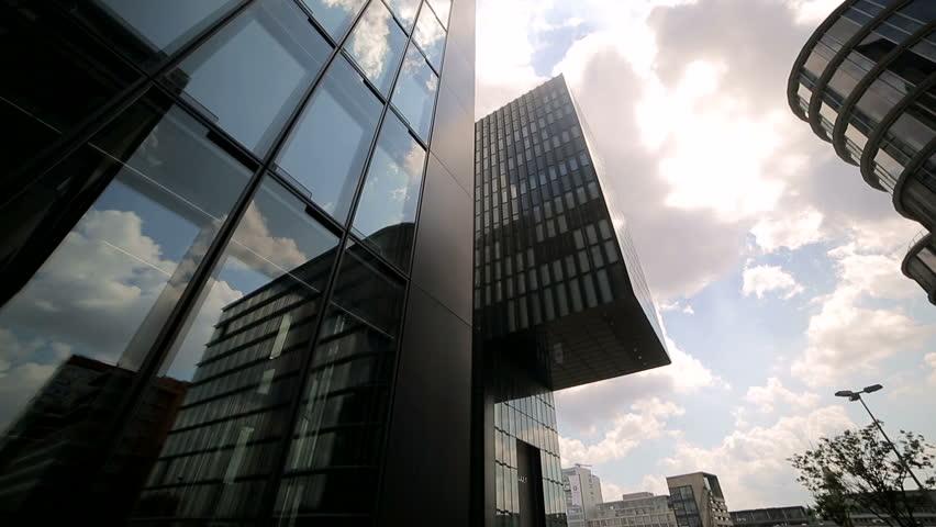 DUSSELDORF. GERMANY. 04 MAY 2017 Camera motion is a Hyatt hotel.