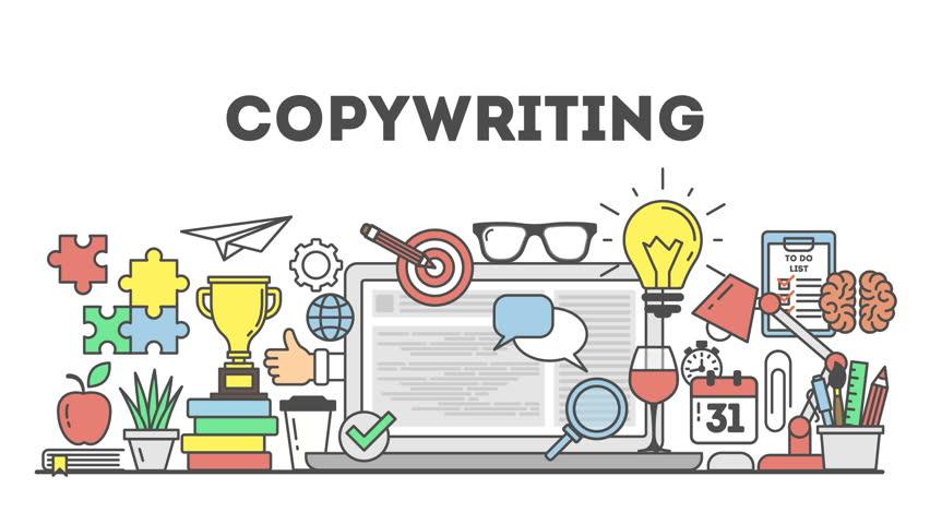 Copywriting concept illustration on white background.