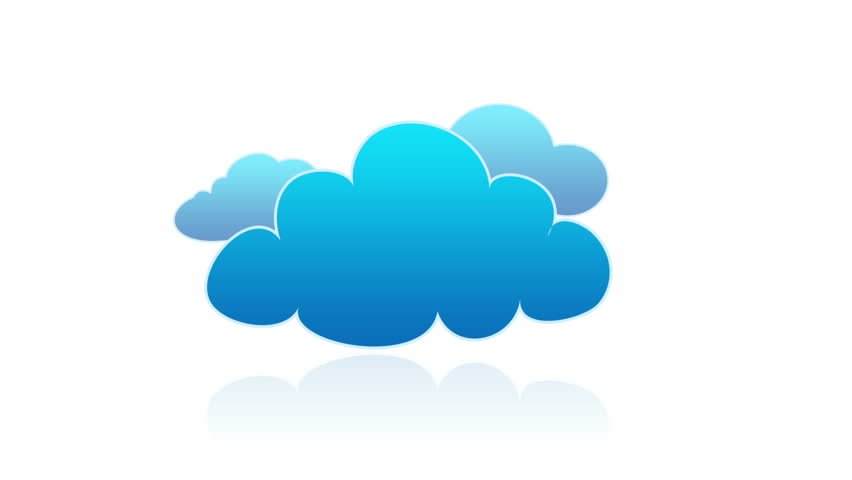cartoon clouds transition animation one by one stock