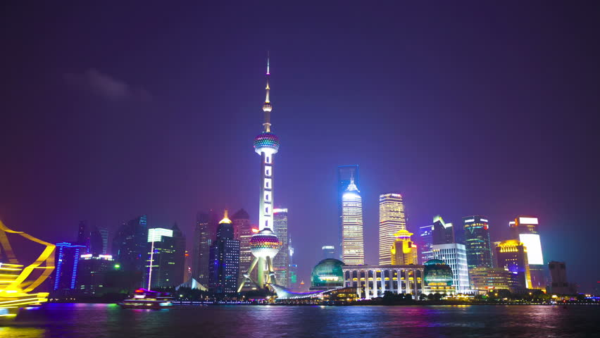 night scene of shanghai